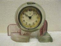 精工舎◇ガラス時計◇置時計◇アンティーク◇アールデコ◇不動