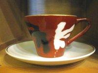 AIKYO CHINA◇カップ&ソーサー◇赤◇レトロ