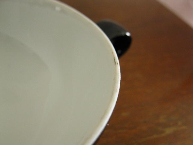 画像5: Sango◇カップ&ソーサー◇紅茶◇デッドストック◇レトロ◇黒