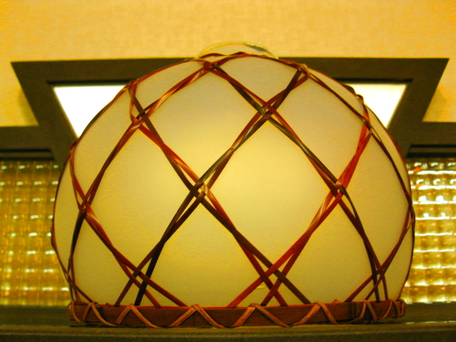 画像3: 照明◇ランプシェード◇ガラス ◇竹飾り◇店舗 ◇オパール◇昭和