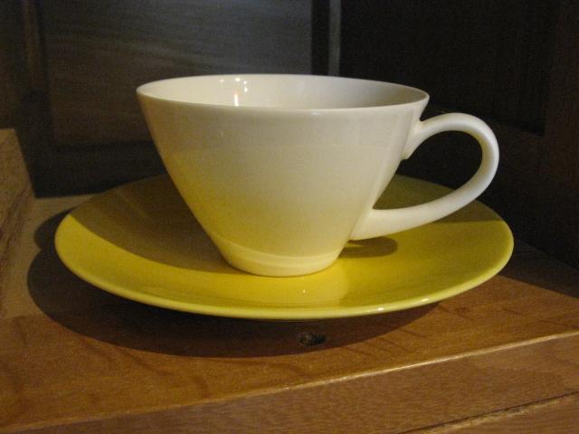 画像1: SK◇カップ&ソーサー◇ホワイト◇イエロー