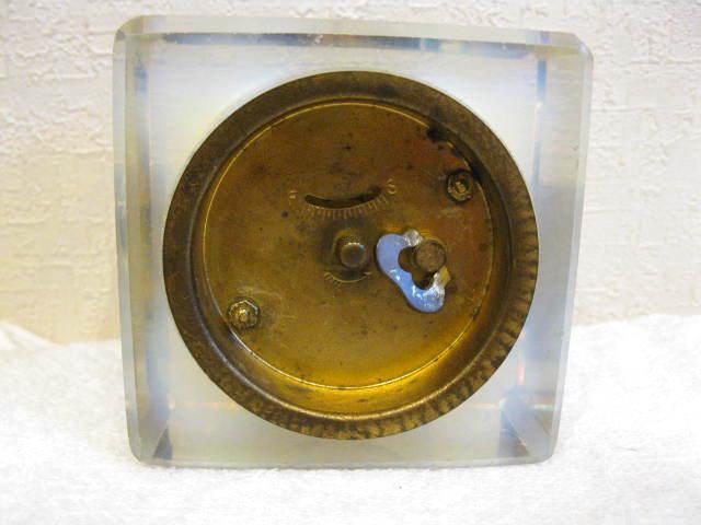 画像2: 精工舎◇ガラス時計◇置時計◇アンティーク◇オパールセント◇四角型