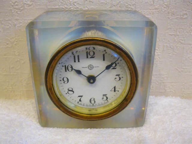 画像5: 精工舎◇ガラス時計◇置時計◇アンティーク◇オパールセント◇四角型