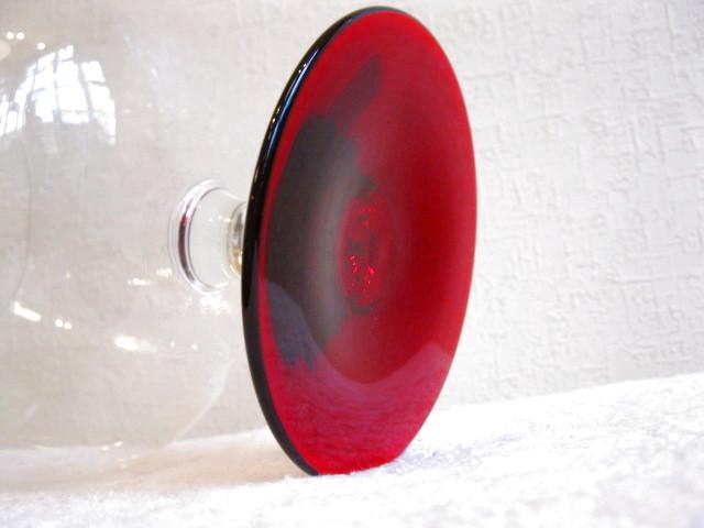 画像4: ブランデーグラス◇赤足◇アンティーク ブランデーグラス◇赤足◇アンティーク