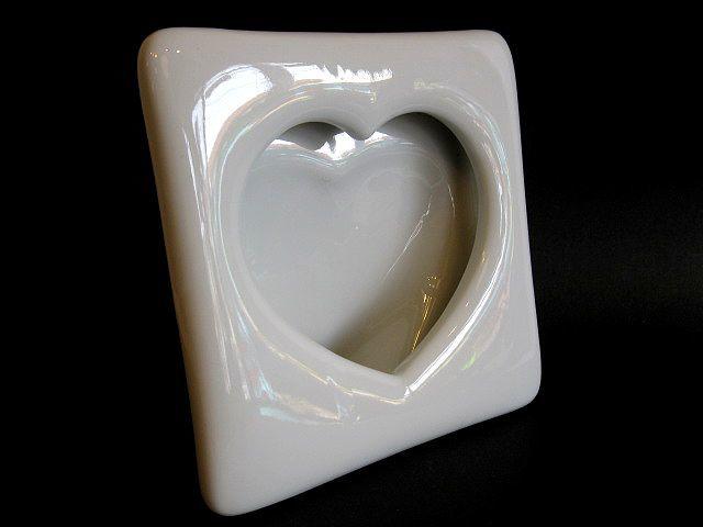 画像3: 写真立て◇陶磁器◇ハート◇ホワイト