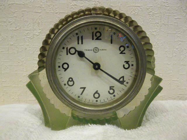 画像1: 精工舎◇ガラス時計◇置時計◇アールデコ◇アンティーク
