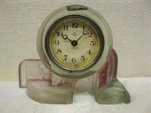 画像1: 精工舎◇ガラス時計◇置時計◇アンティーク◇アールデコ◇不動