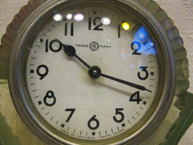 画像3: 精工舎◇ガラス時計◇置時計◇アールデコ◇アンティーク